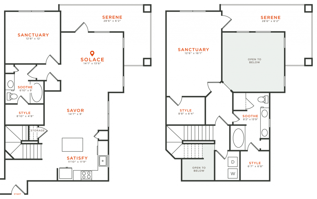 1,633 sq. ft. TH6 floor plan