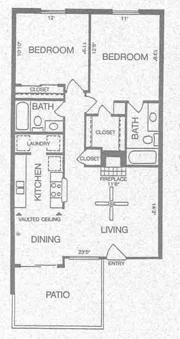 950 sq. ft. Acadia floor plan