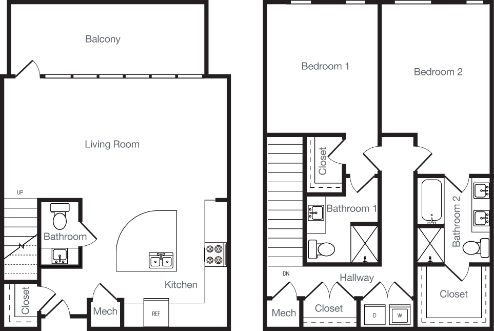 1,591 sq. ft. 2K floor plan