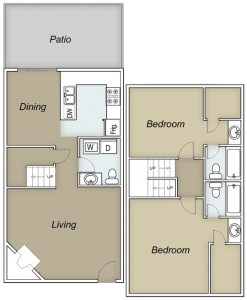 1,224 sq. ft. Tahoe floor plan