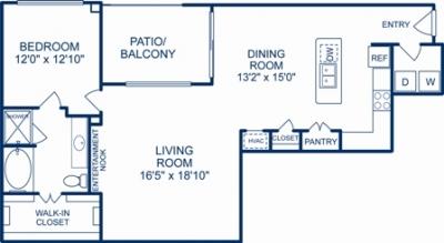 1,173 sq. ft. LOUISVILLE floor plan