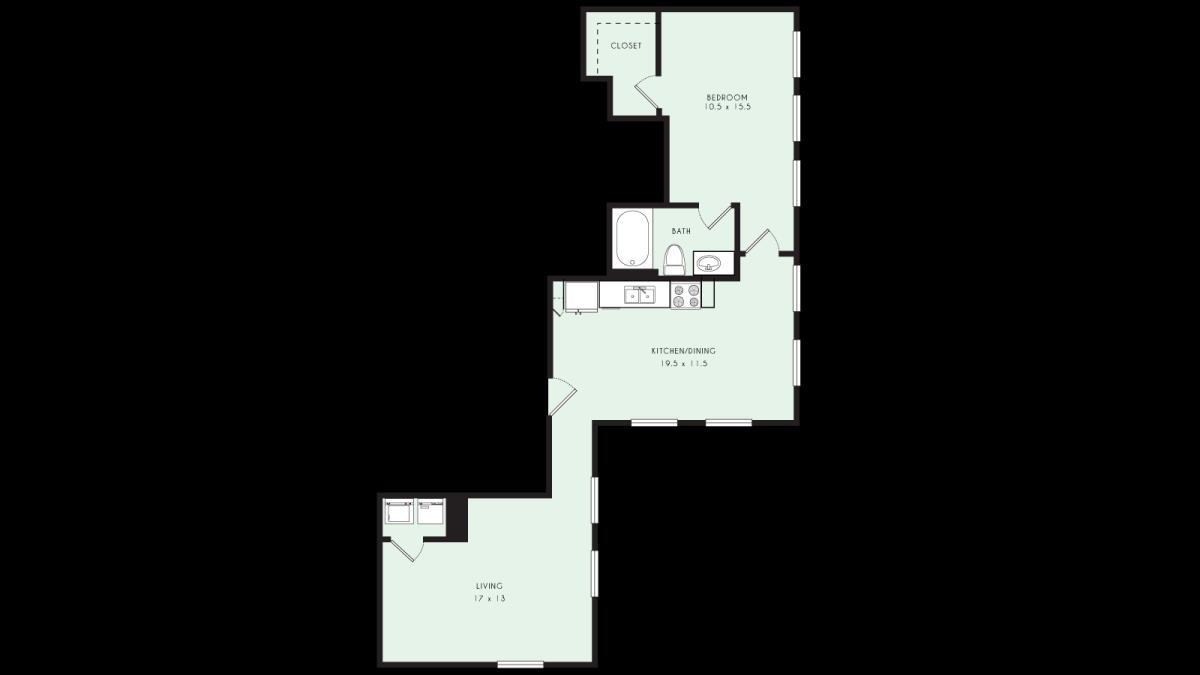 987 sq. ft. PH 4 MKT floor plan