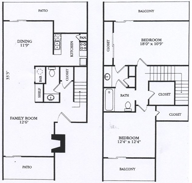 1,310 sq. ft. B4 floor plan