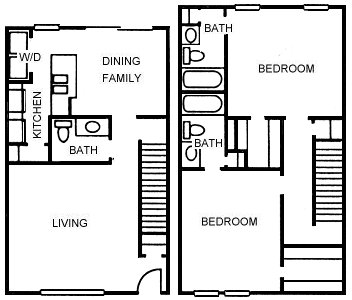 1,326 sq. ft. B6 floor plan