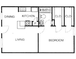 660 sq. ft. floor plan