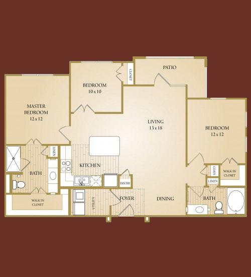1,214 sq. ft. Colorado floor plan