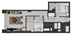 1,044 sq. ft. floor plan