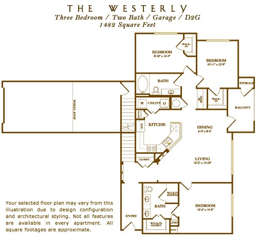 1,482 sq. ft. Westbrook floor plan