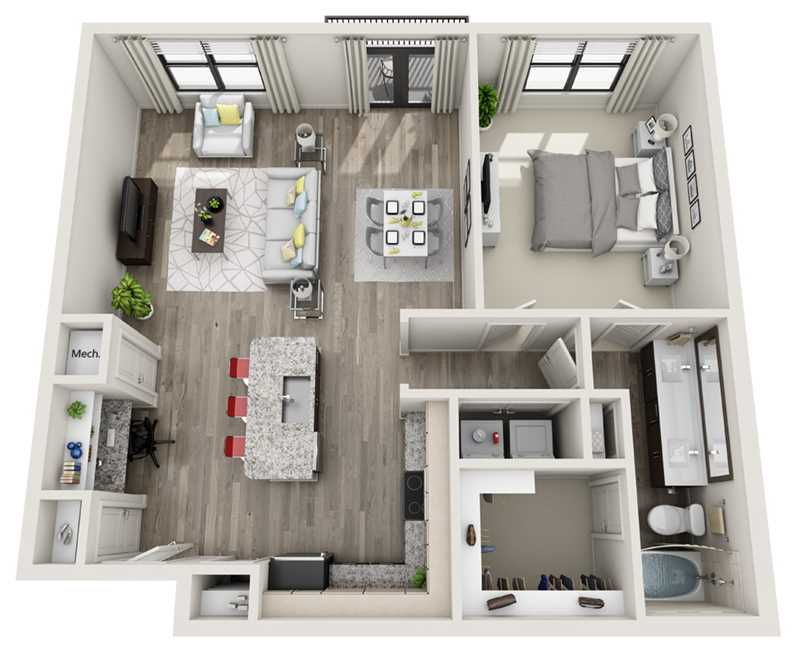 951 sq. ft. to 989 sq. ft. A4 floor plan
