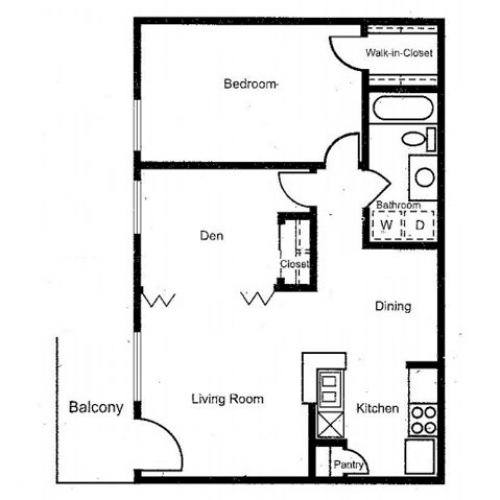 804 sq. ft. floor plan