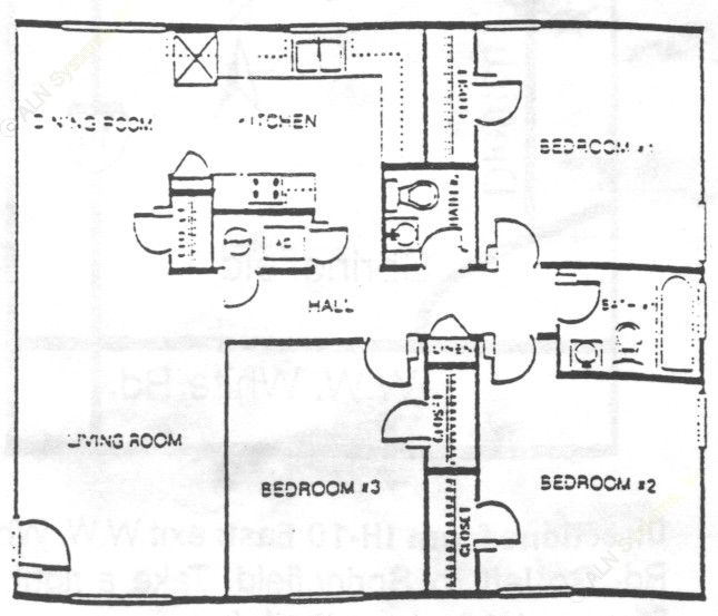 945 sq. ft. floor plan