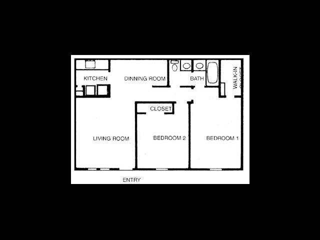 930 sq. ft. C/LaFayette floor plan