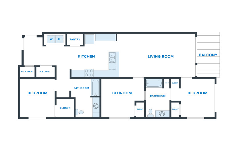 1,350 sq. ft. Bowie floor plan