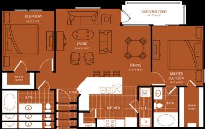 1,170 sq. ft. Olympic floor plan
