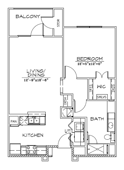 770 sq. ft. 30% floor plan