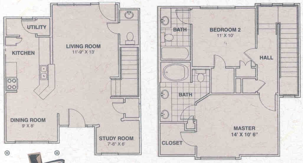811 sq. ft. Lone Star floor plan