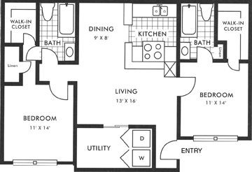 1,473 sq. ft. C1 floor plan