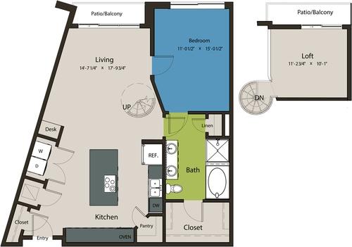 1,126 sq. ft. A10-L1 floor plan