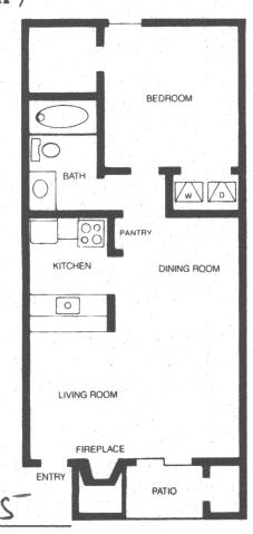 486 sq. ft. SEDONA floor plan