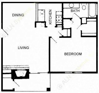 768 sq. ft. floor plan