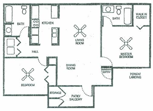 1,064 sq. ft. 60 floor plan