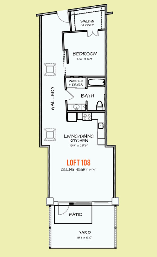 993 sq. ft. 204 floor plan