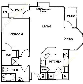853 sq. ft. Marques floor plan