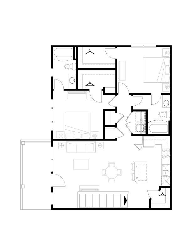 1,151 sq. ft. floor plan