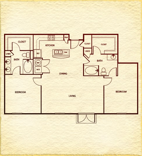 1,350 sq. ft. C700 floor plan
