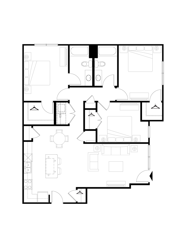 1,334 sq. ft. floor plan
