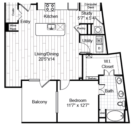 946 sq. ft. A8.4 floor plan