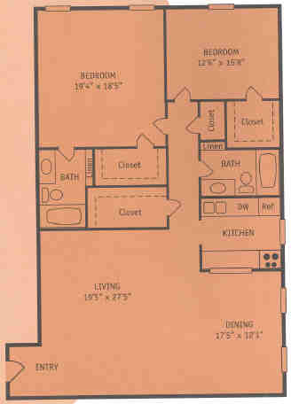 1,415 sq. ft. Z floor plan