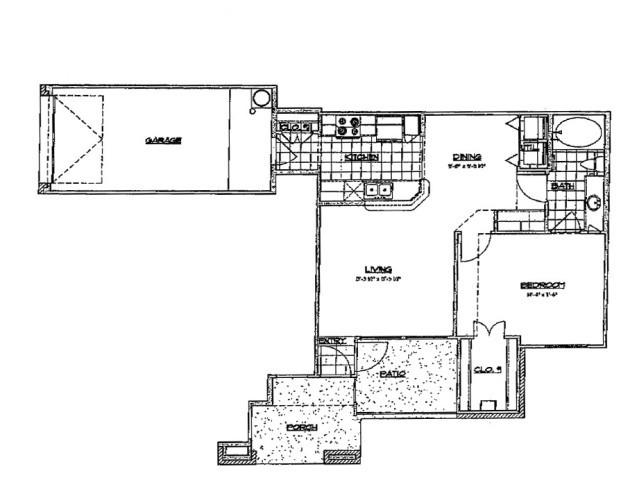 765 sq. ft. B 60 floor plan