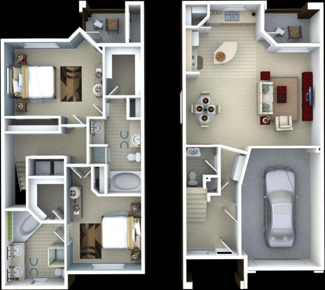 1,485 sq. ft. Sage floor plan