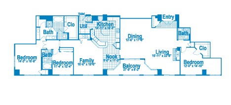 3,060 sq. ft. PT3.1 floor plan