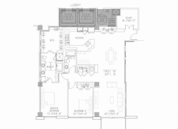 1,927 sq. ft. B11 floor plan