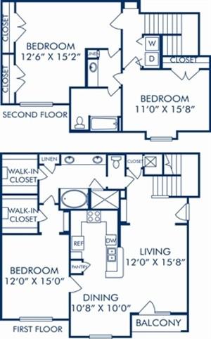 1,794 sq. ft. H2 floor plan
