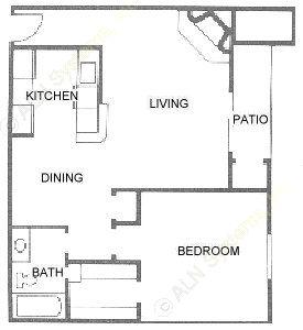 724 sq. ft. A4 floor plan