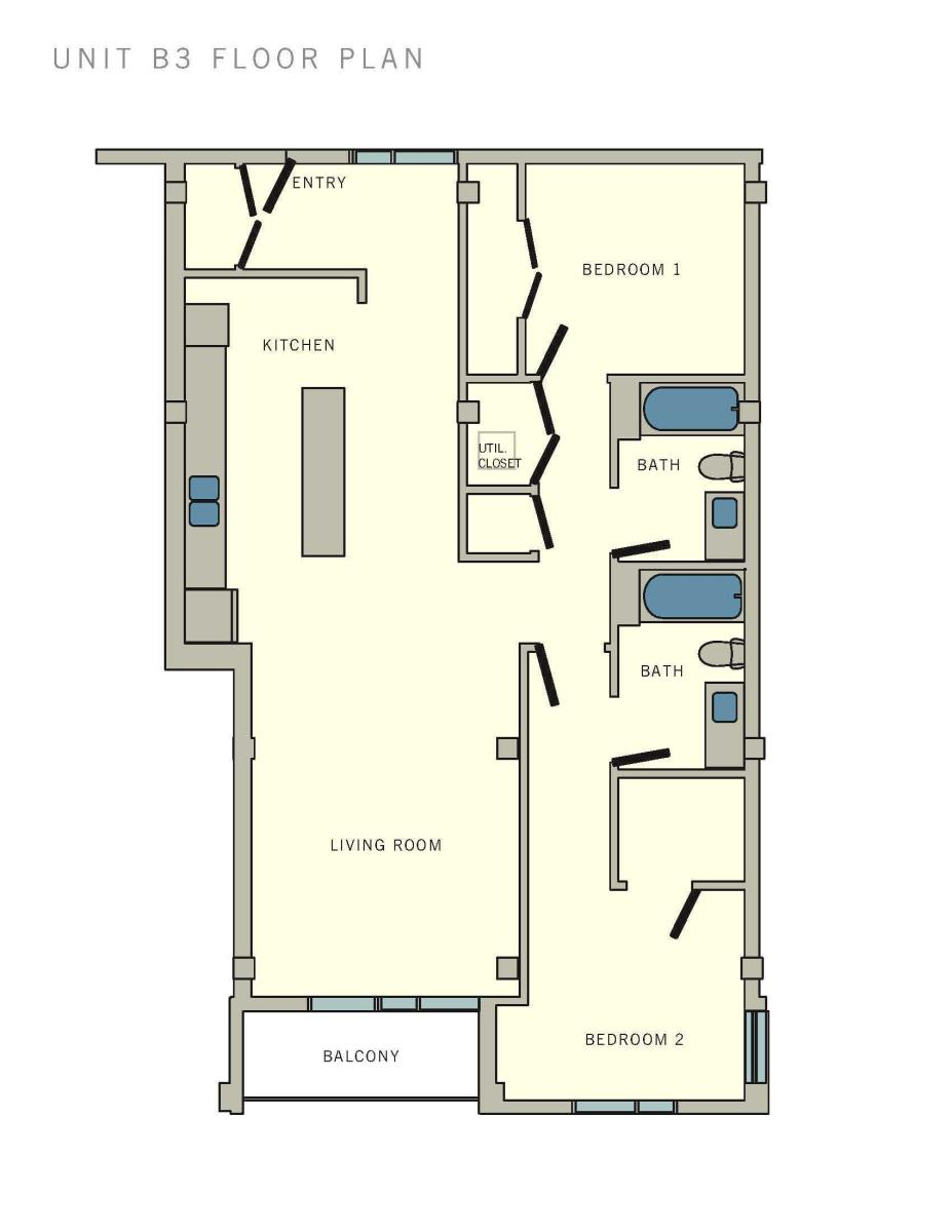1,084 sq. ft. B3 floor plan