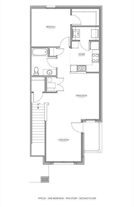 840 sq. ft. 30% floor plan