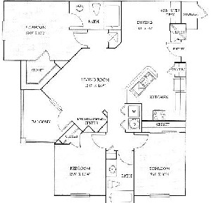 1,273 sq. ft. C floor plan