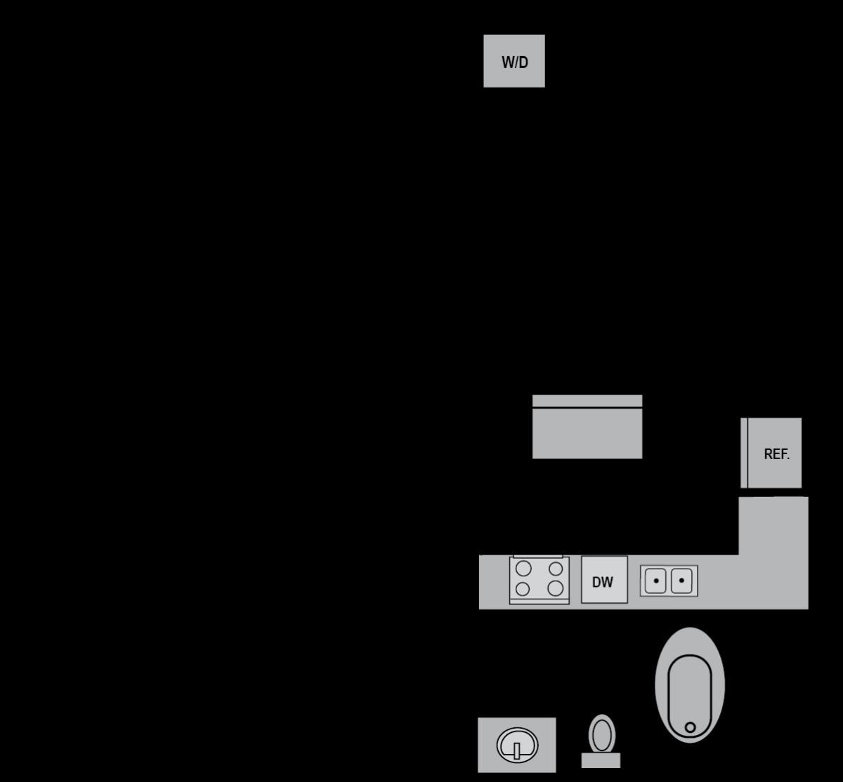 748 sq. ft. E4 floor plan