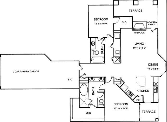 1,371 sq. ft. floor plan