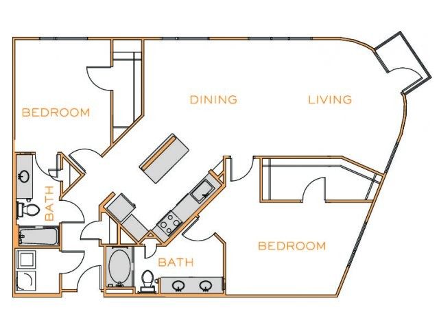1,476 sq. ft. F4 floor plan