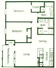1,037 sq. ft. floor plan