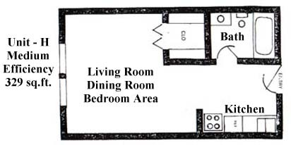 329 sq. ft. floor plan