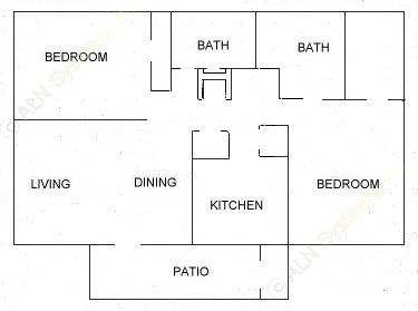 995 sq. ft. C floor plan