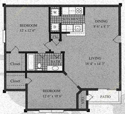 797 sq. ft. E-60% floor plan