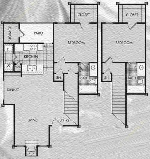 1,141 sq. ft. Edinberg floor plan