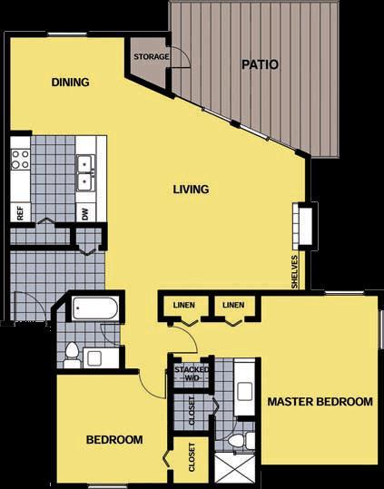 1,382 sq. ft. B2 floor plan